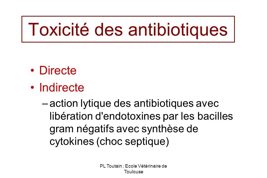 Toxicité des antibiotiques