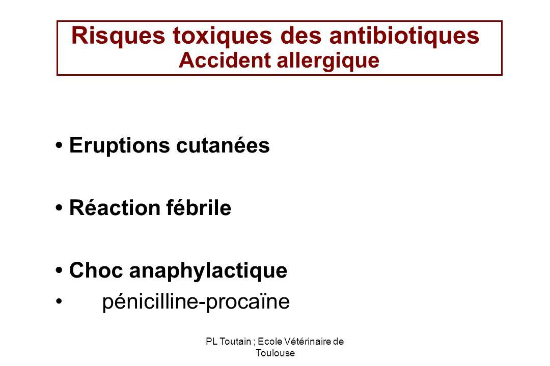 Risques toxiques des antibiotiques