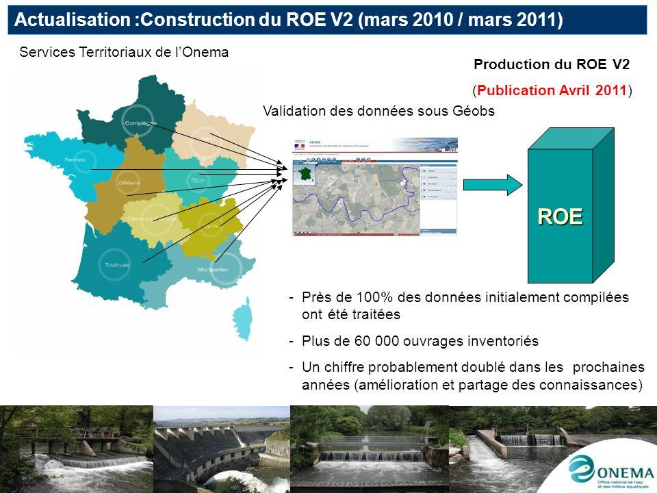 ROE Actualisation :Construction du ROE V2 (mars 2010 / mars 2011)