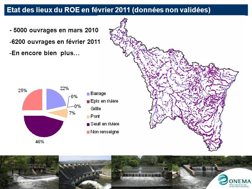 Etat des lieux du ROE en février 2011 (données non validées)
