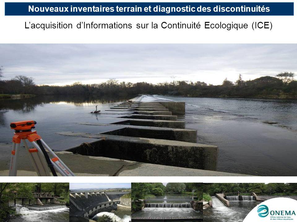 Nouveaux inventaires terrain et diagnostic des discontinuités