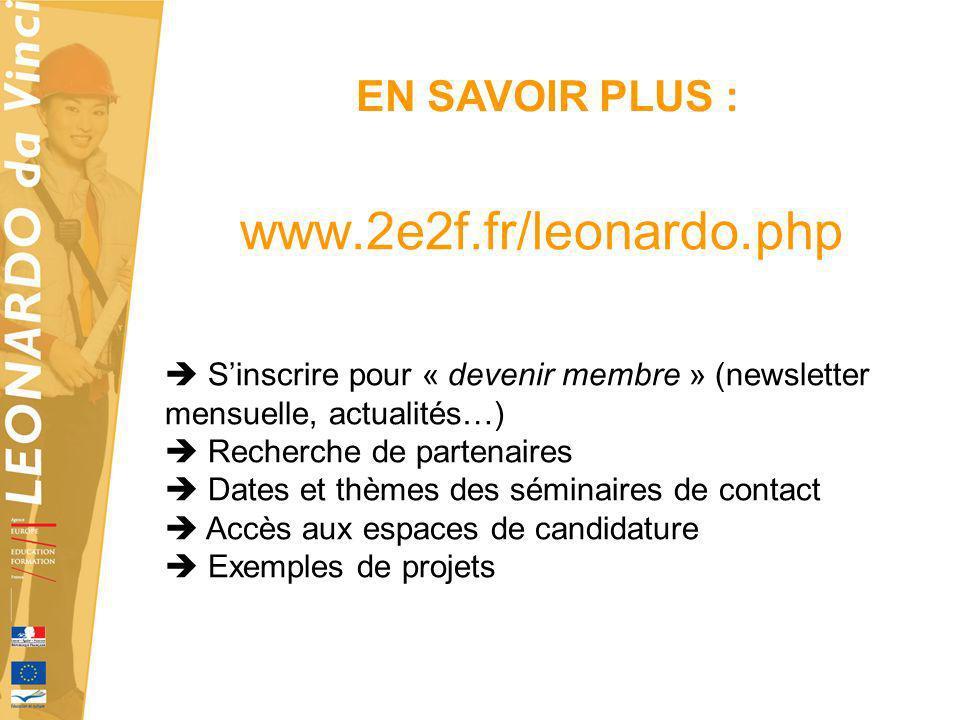 www.2e2f.fr/leonardo.php EN SAVOIR PLUS :