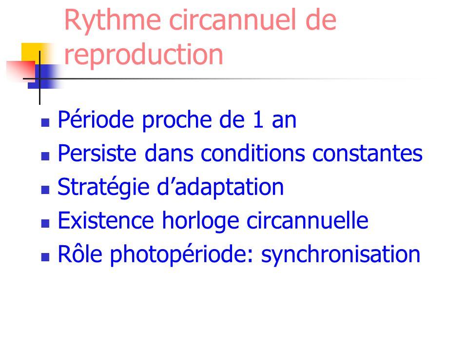 Rythme circannuel de reproduction