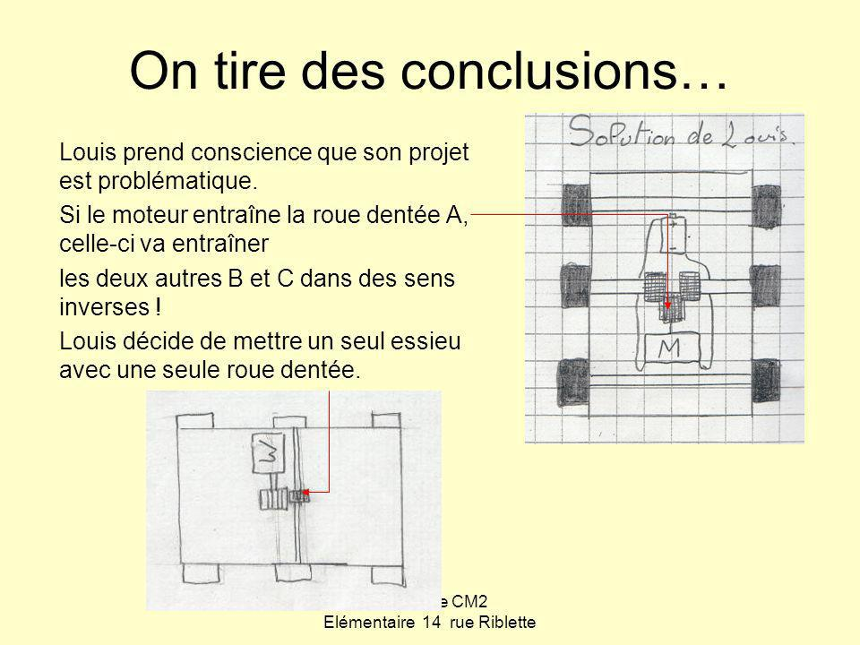 On tire des conclusions…