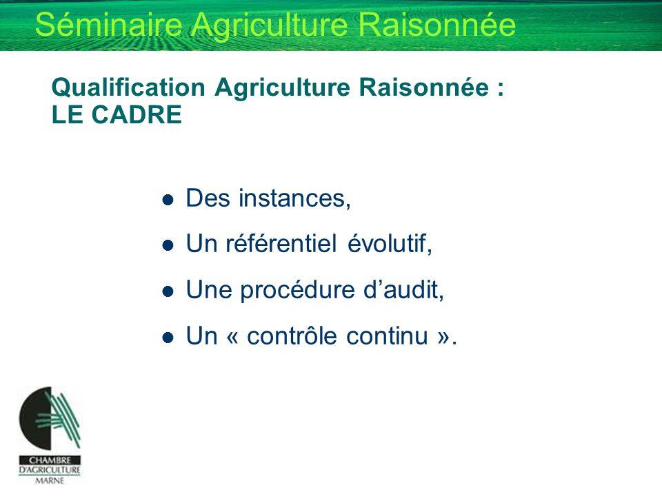 Qualification Agriculture Raisonnée : LE CADRE