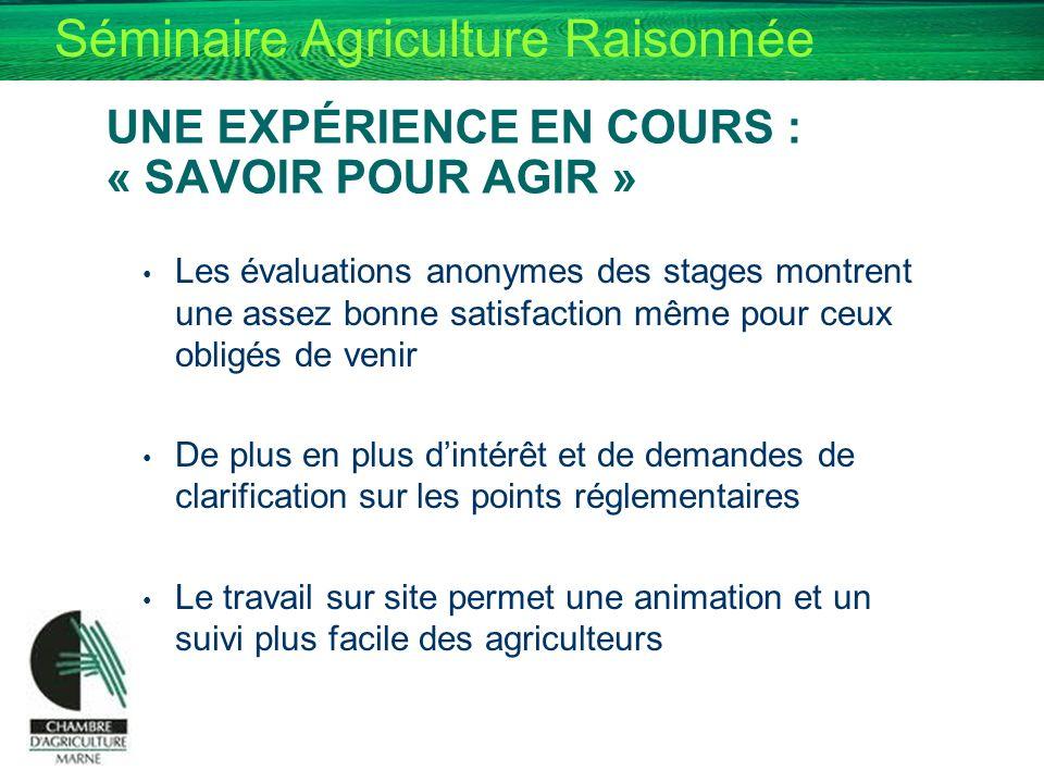 UNE EXPÉRIENCE EN COURS : « SAVOIR POUR AGIR »