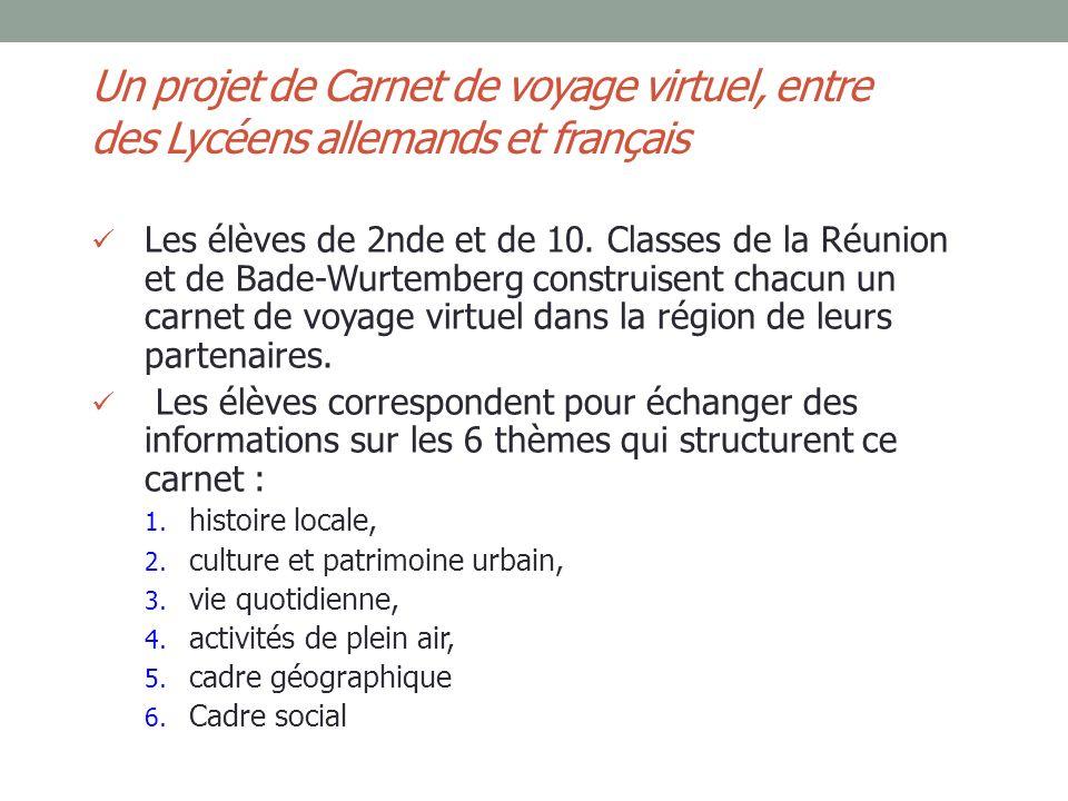 Un projet de Carnet de voyage virtuel, entre des Lycéens allemands et français