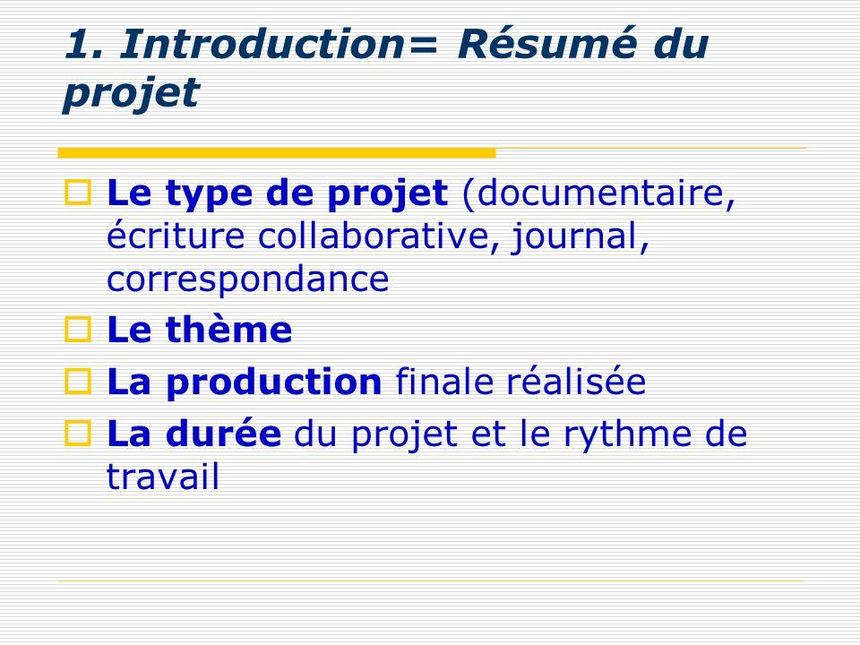1. Introduction= Résumé du projet