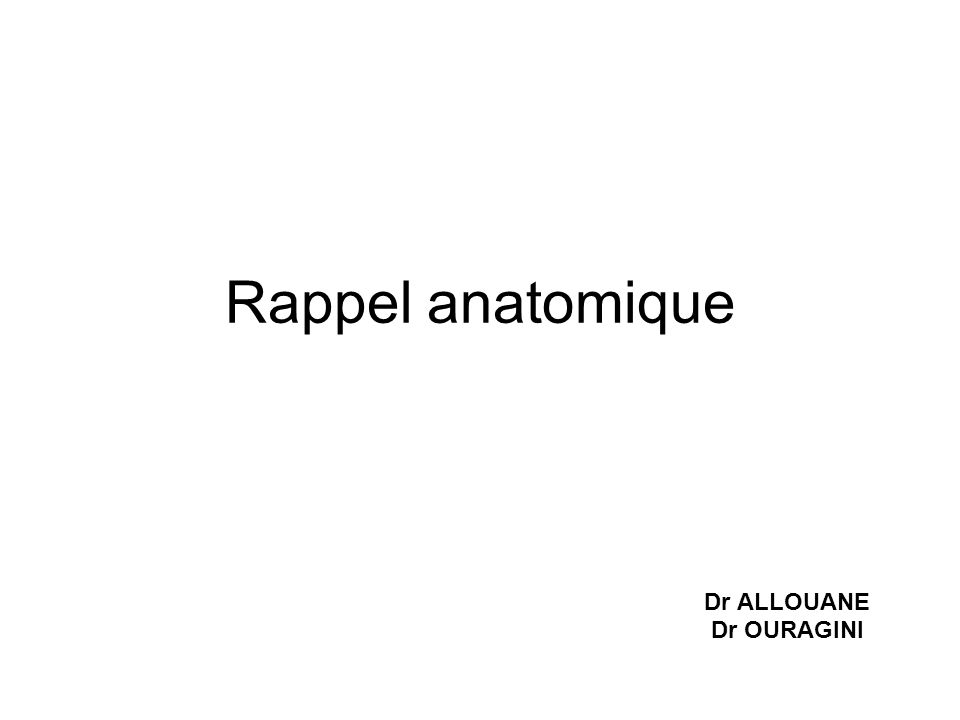 Dr ALLOUANE Dr OURAGINI
