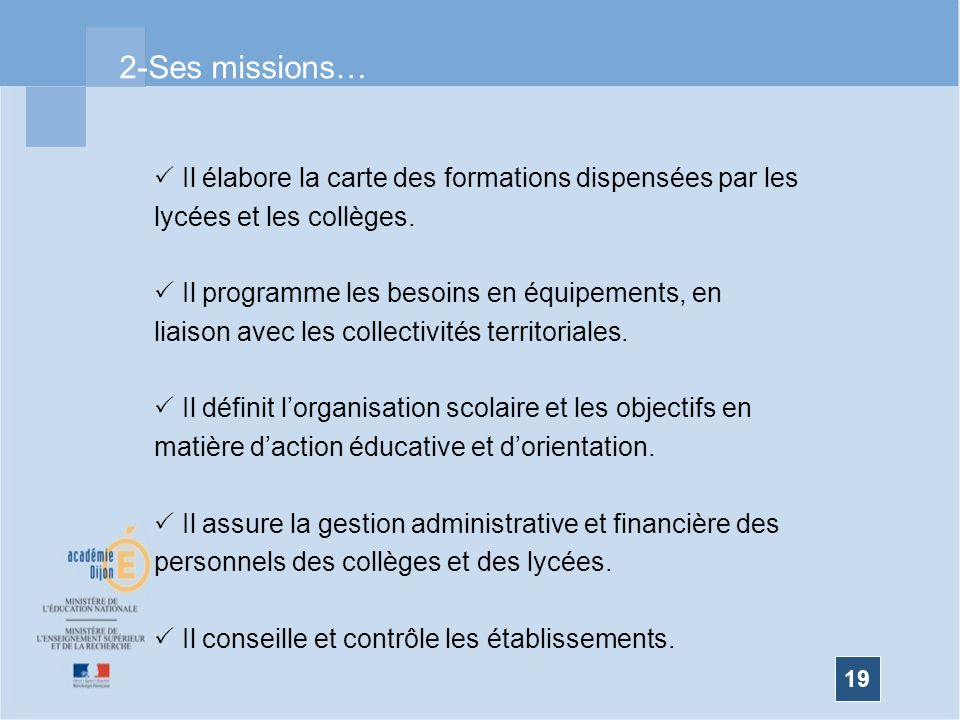 2-Ses missions…