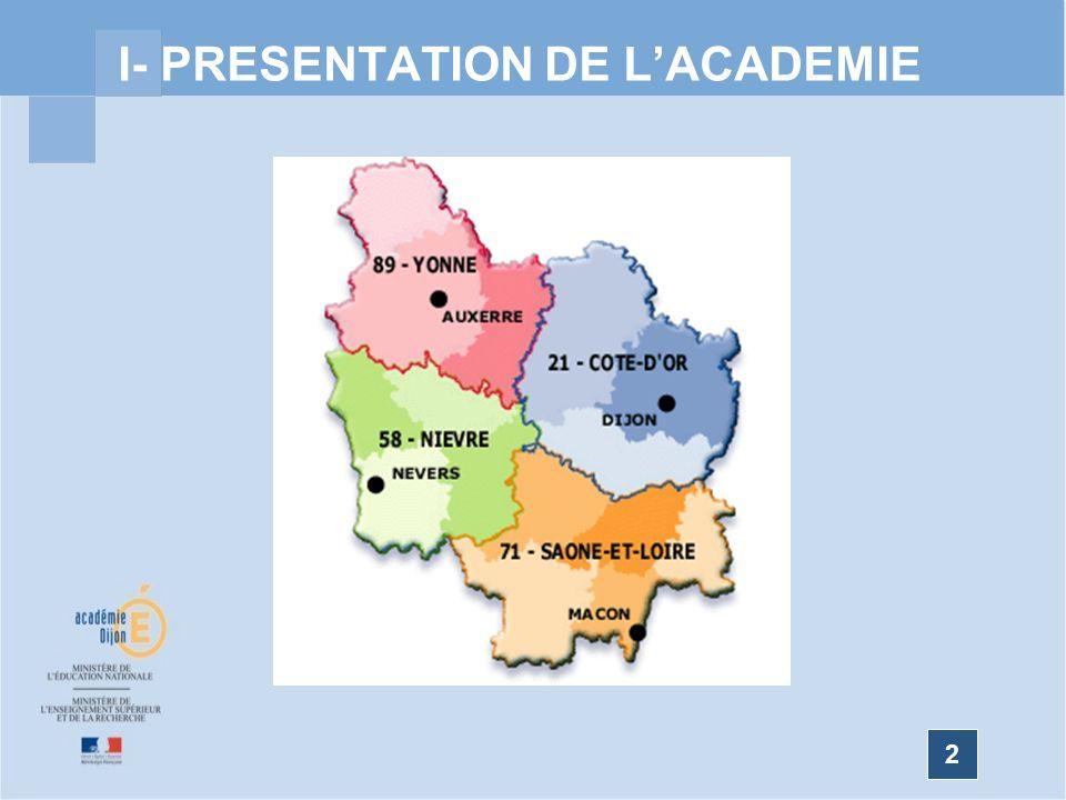 I- PRESENTATION DE L'ACADEMIE