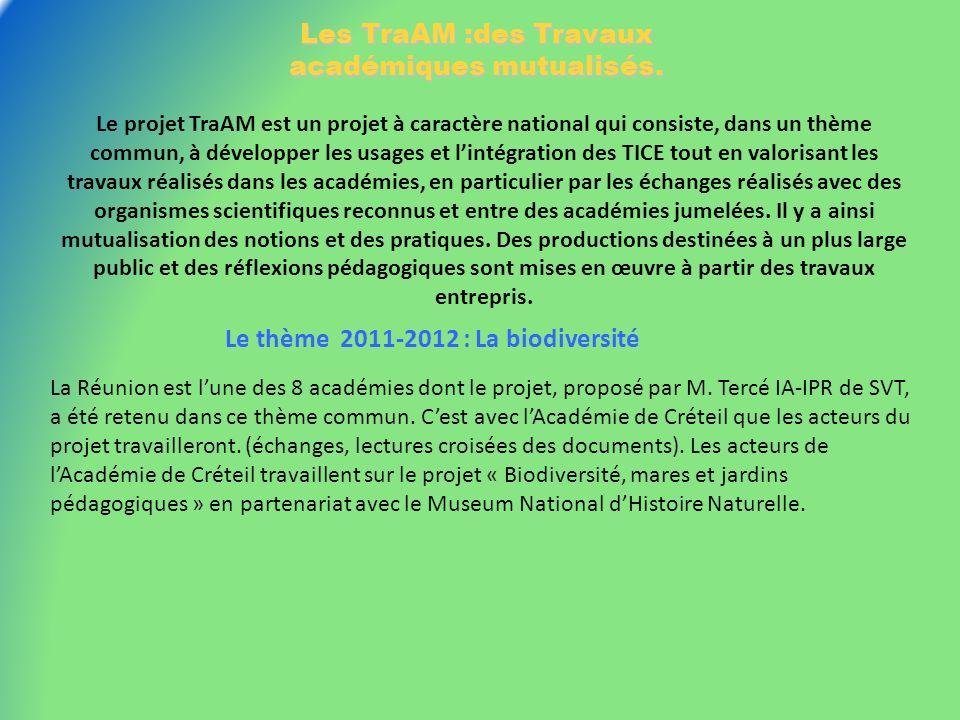 Les TraAM :des Travaux académiques mutualisés.
