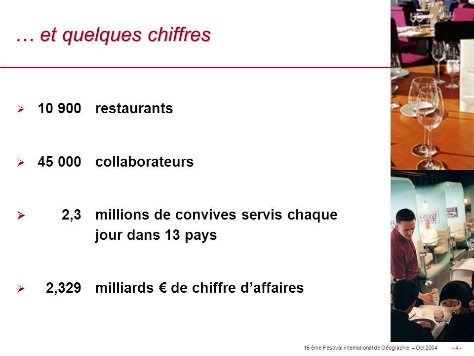 … et quelques chiffres 10 900 restaurants 45 000 collaborateurs