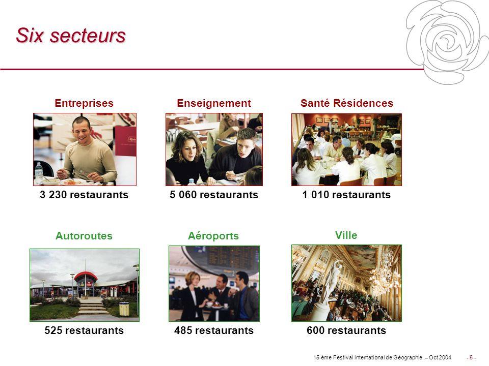 Six secteurs Entreprises Enseignement Santé Résidences