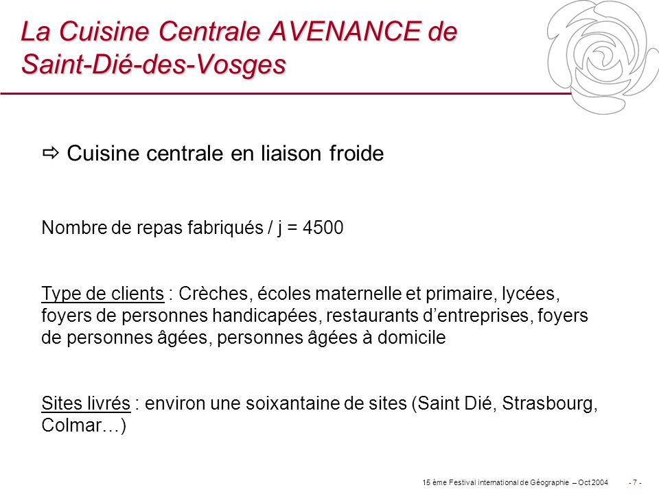 La Cuisine Centrale AVENANCE de Saint-Dié-des-Vosges