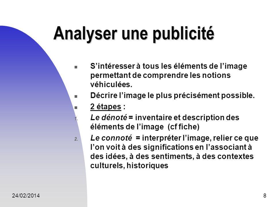 Analyser une publicité