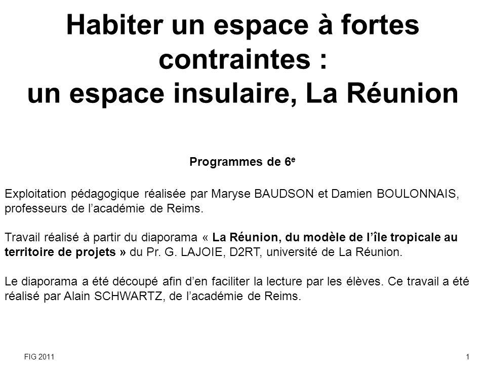 Habiter un espace à fortes contraintes :