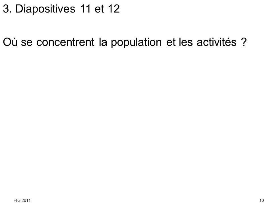 Où se concentrent la population et les activités