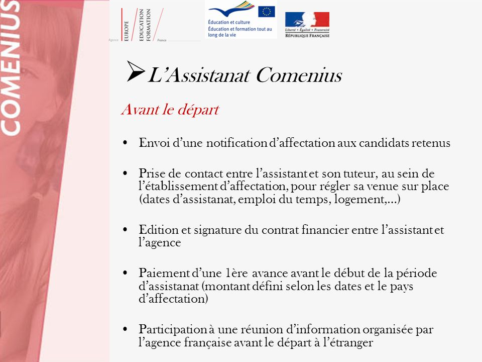 L'Assistanat Comenius