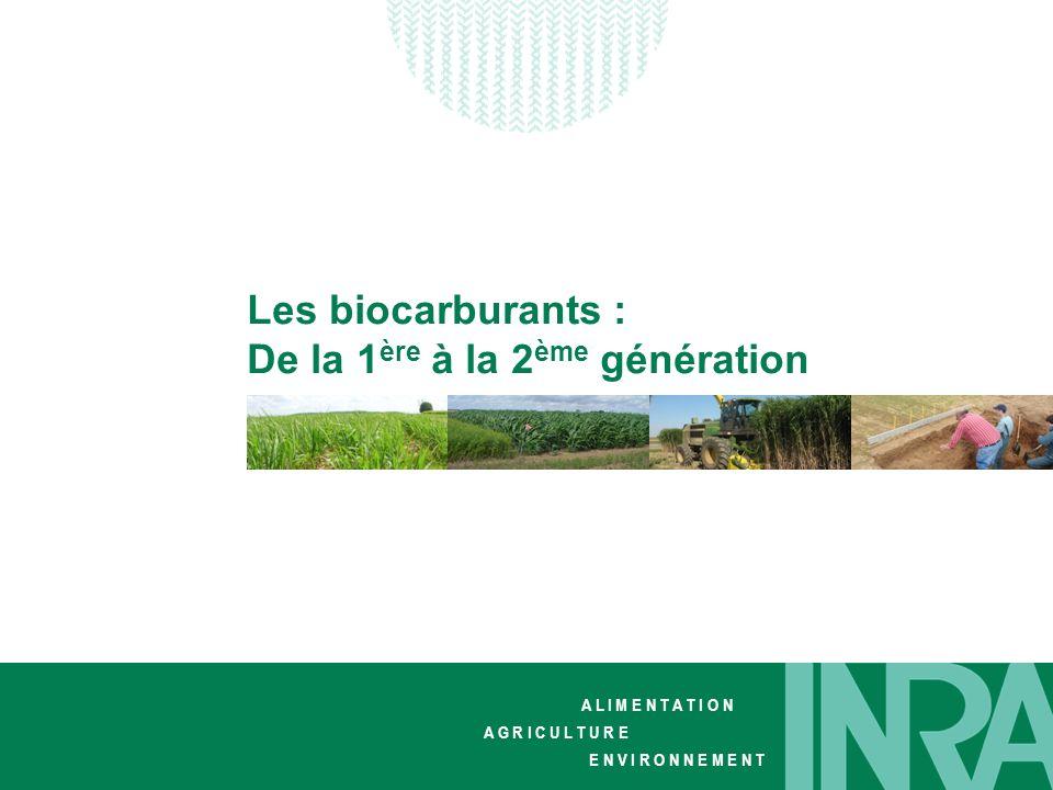 Les biocarburants : De la 1ère à la 2ème génération