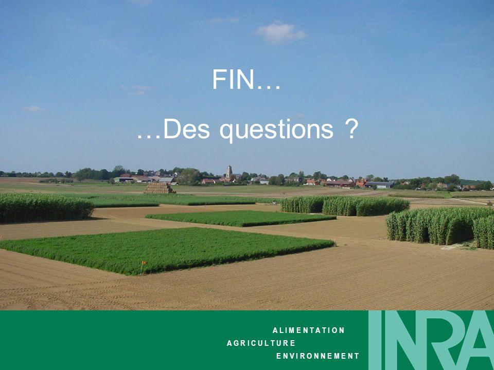 FIN… …Des questions