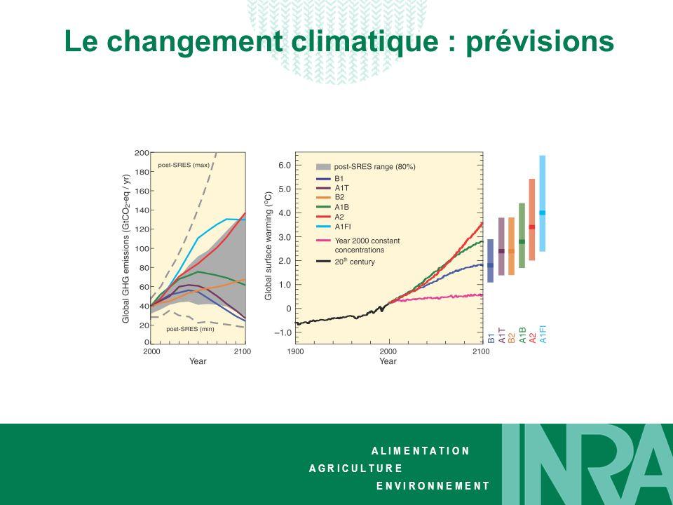 Le changement climatique : prévisions