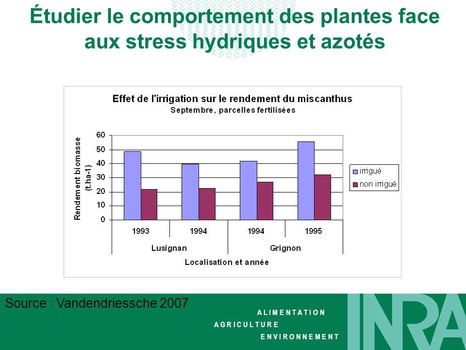 Étudier le comportement des plantes face aux stress hydriques et azotés