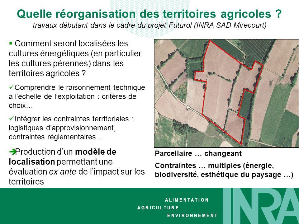 Quelle réorganisation des territoires agricoles