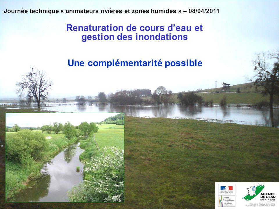 Renaturation de cours d'eau et gestion des inondations