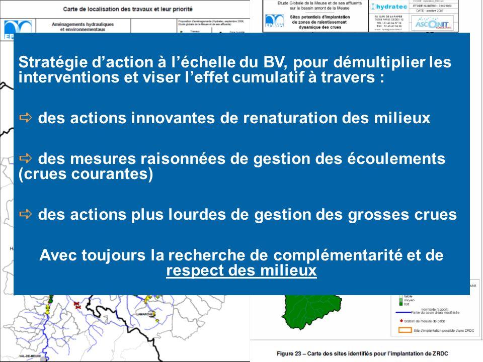 Stratégie d'action à l'échelle du BV, pour démultiplier les interventions et viser l'effet cumulatif à travers :