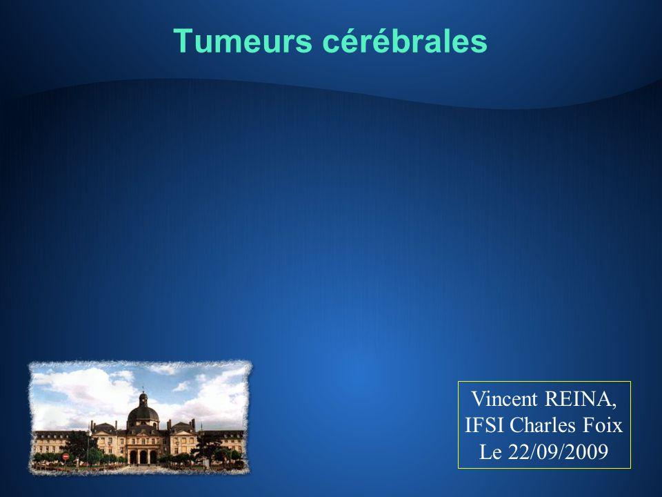 Tumeurs cérébrales Vincent REINA, IFSI Charles Foix Le 22/09/2009