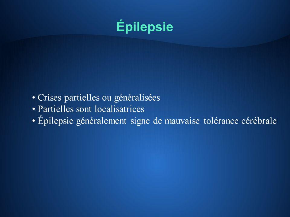 Épilepsie Crises partielles ou généralisées