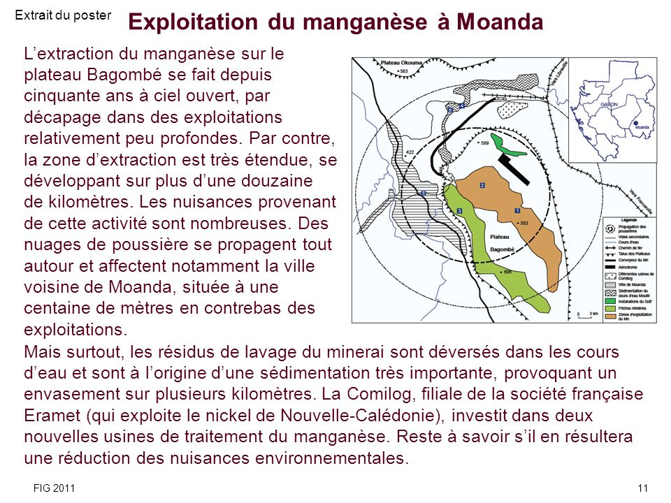 Exploitation du manganèse à Moanda