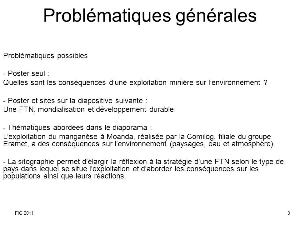 Problématiques générales
