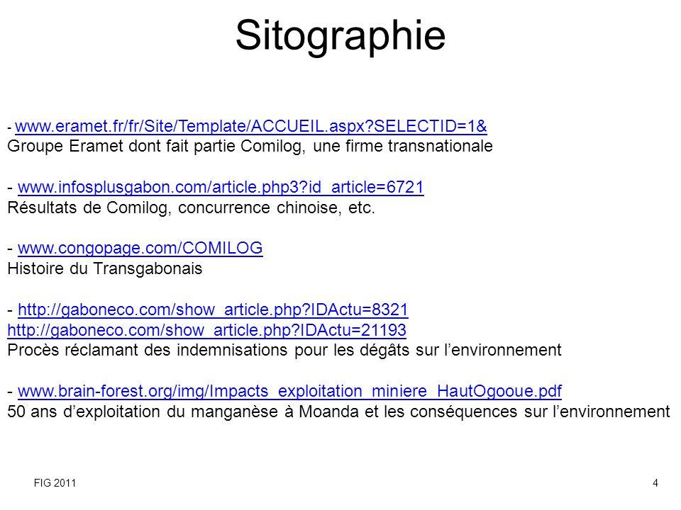 Sitographie - www.eramet.fr/fr/Site/Template/ACCUEIL.aspx SELECTID=1& Groupe Eramet dont fait partie Comilog, une firme transnationale.