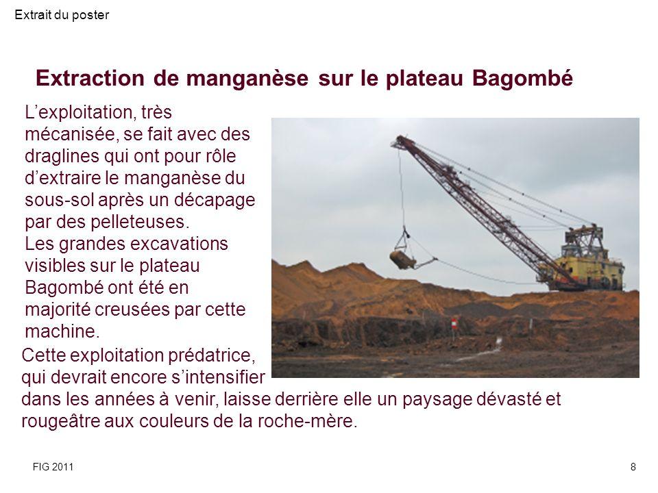 Extraction de manganèse sur le plateau Bagombé