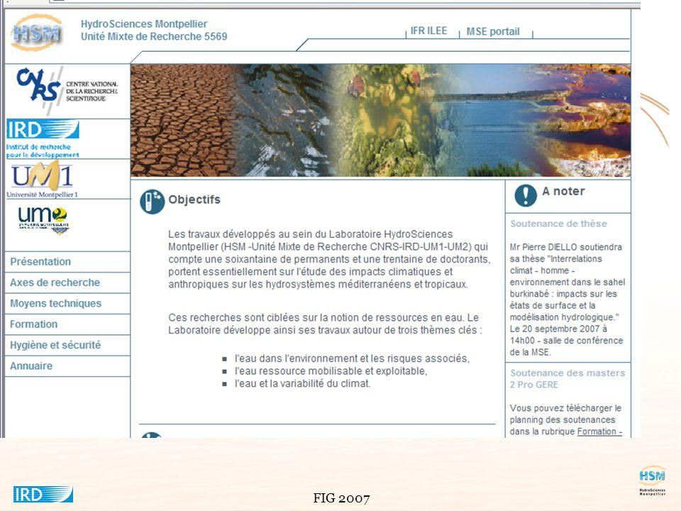 Ce système d'informations environnementales a été développé au sein de l'Unité mixte de recherche HydroSciences Montpellier. Cette unité mixte a pour tutelles le CNRS, l'IRD et les universités de Montpellier 1 et 2