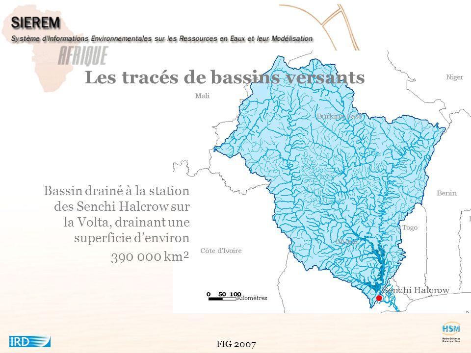 Les tracés de bassins versants