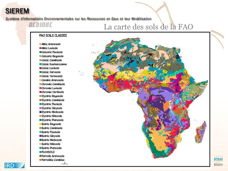 La carte des sols de la FAO