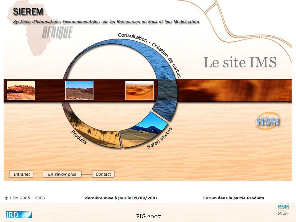 Le site IMS Dernier produit en date du système d'informations environnementales que nous avons développé est le site web.