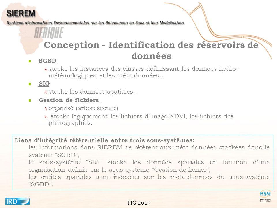 Conception - Identification des réservoirs de données