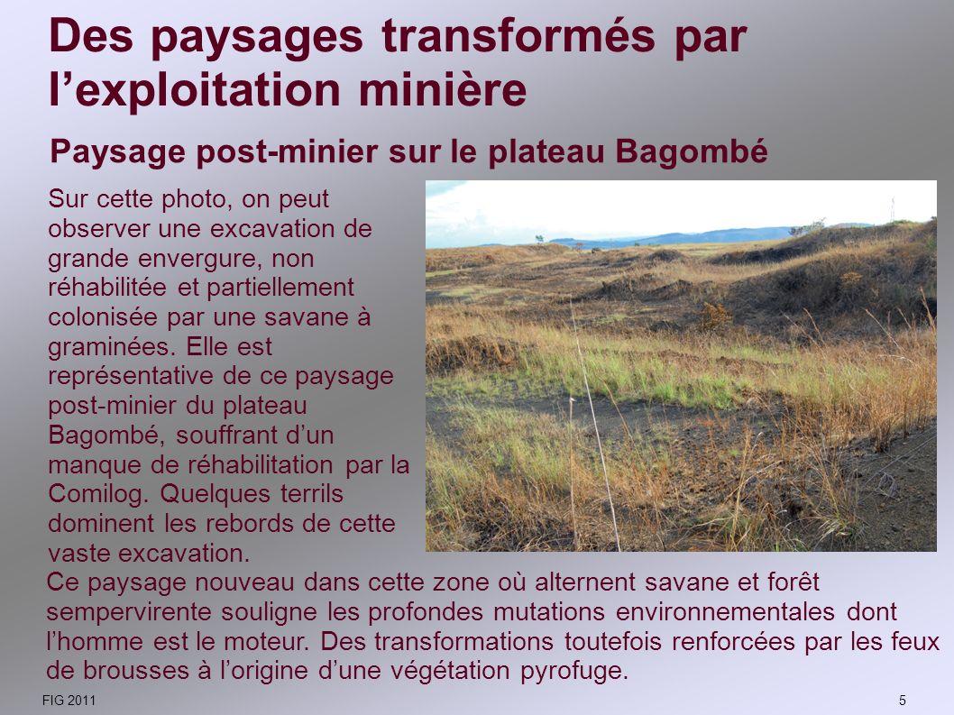 Des paysages transformés par l'exploitation minière
