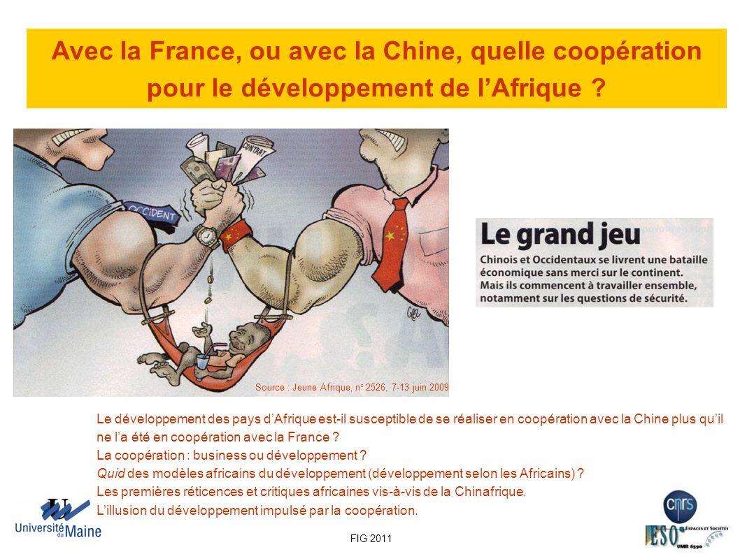 Avec la France, ou avec la Chine, quelle coopération pour le développement de l'Afrique
