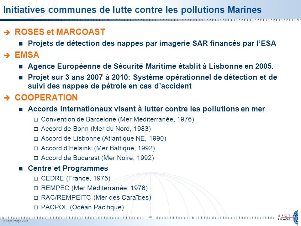 Initiatives communes de lutte contre les pollutions Marines
