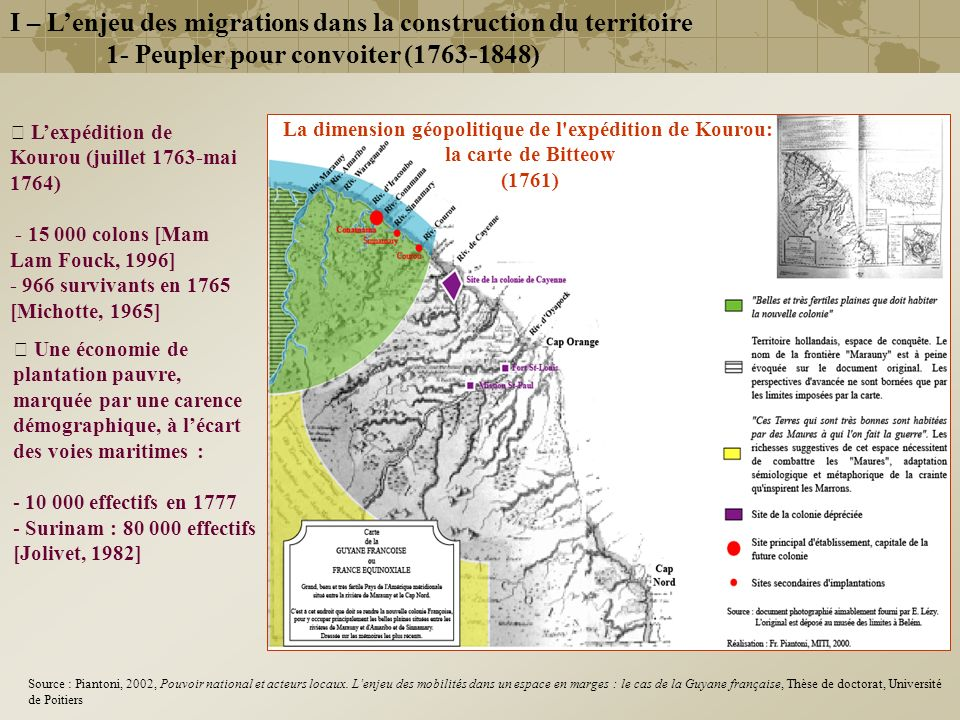 La dimension géopolitique de l expédition de Kourou: