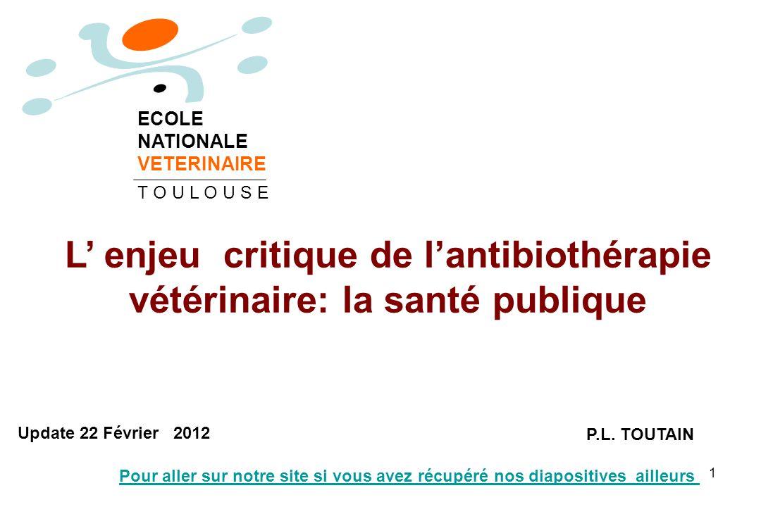 L' enjeu critique de l'antibiothérapie vétérinaire: la santé publique