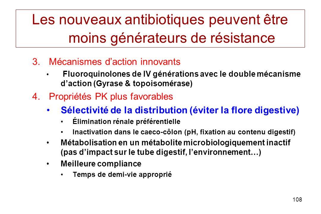 Les nouveaux antibiotiques peuvent être moins générateurs de résistance