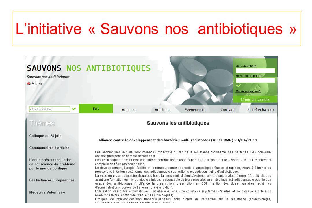 L'initiative « Sauvons nos antibiotiques »