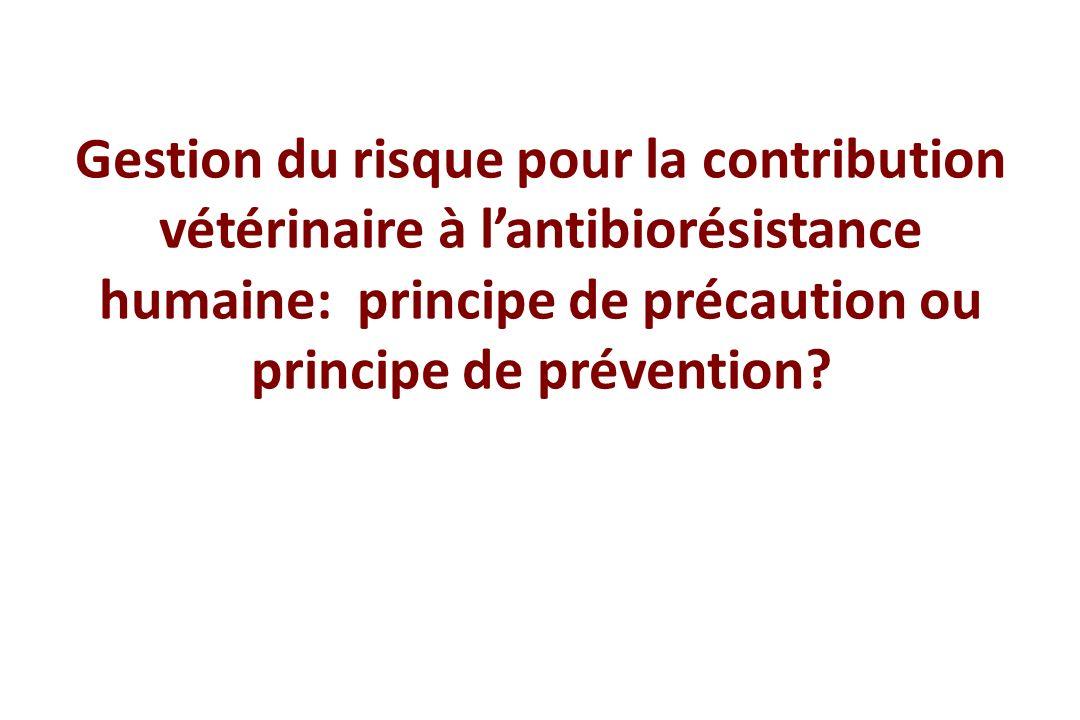 Gestion du risque pour la contribution vétérinaire à l'antibiorésistance humaine: principe de précaution ou principe de prévention