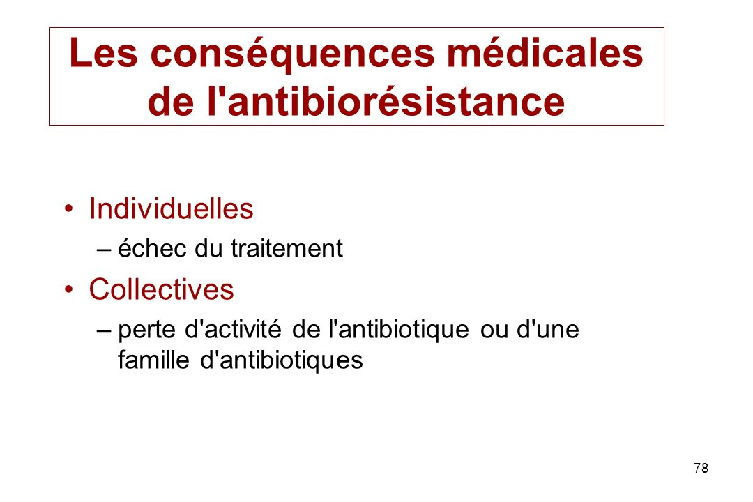 Les conséquences médicales de l antibiorésistance
